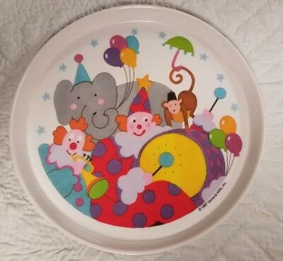 Vintage 1987 Circus SiLite Plate. General Mills. Great cond! One of a kind!