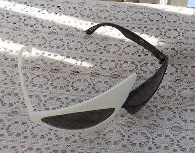 RARE Vintage Art Deco Sunglasses Sun Glasses Black & White Hand Polished Dyce NR