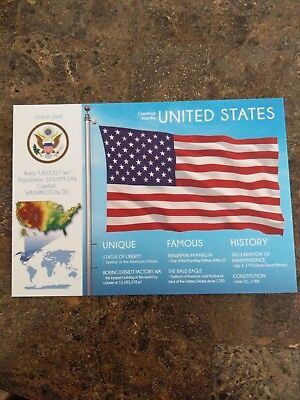 United States Flags of the world postcards