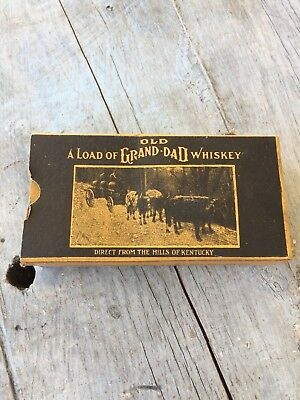 Vintage Old Grand Dad Whiskey Cardboard Box & Empty Bottle Made By The Wathens