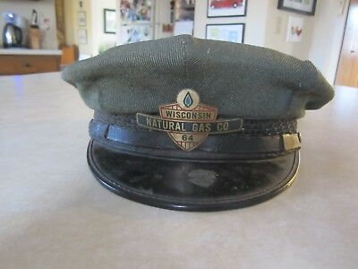 Vintage WISCONSIN NATURAL GAS CO. HAT - Metal Badge attached to front
