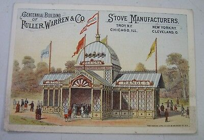 Antique Fuller Warren & Co Wood Stoves Ranges Worlds Fair Advertising Trade Card