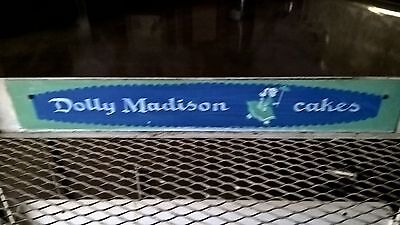 Old Vintage Dolly Madison cake pie display rack sign hostess wonder bread candy