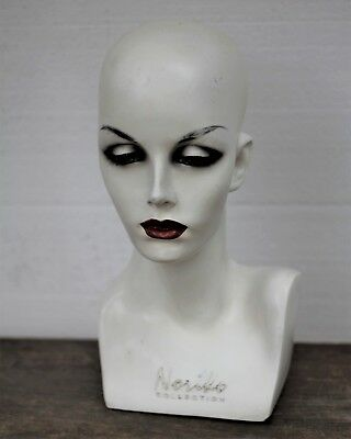 Vintage Female Mannequin Head 1990's Hats Jewelry Display