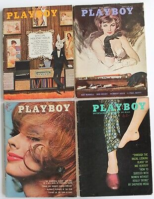 Vintage 1962 PLAYBOY  Magazines  Lot of 7