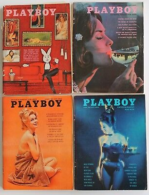 Vintage 1963 PLAYBOY  Magazines  Lot of 10