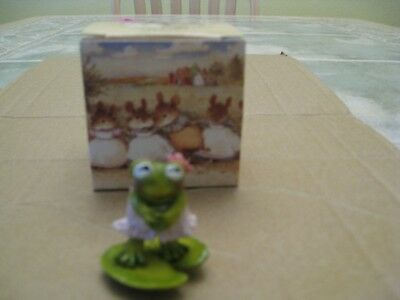 WEE FOREST FOLK MICE, FLIRTY FROG, F-7, 1997, mouse with box