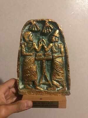 Stele bronze Antiques of 14 centry before J-C represents an alliance