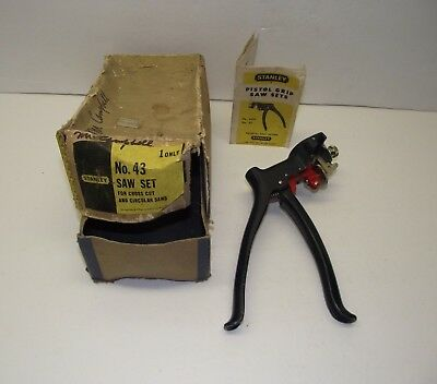 Vintage Stanley no.43 Pistol Grip Saw Set with Instructions & Box See No-Reserve