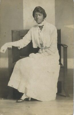 Black/african-American Rppc Portrait.  Demure, Sophisticated Young Lady.