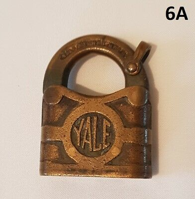 Vintage Yale & Towne Brass Padlock No Key Usa
