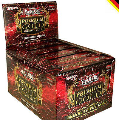 Yugioh Premium Gold 3 Display 1. Auflage (5 Packs) deutsch NEU & OVP Yu-Gi-Oh