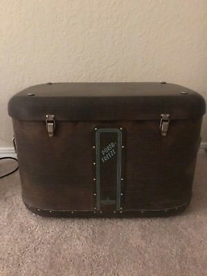 Vintage 1950s Porto Freeze Wood & Metal Ice Box/ Cooler