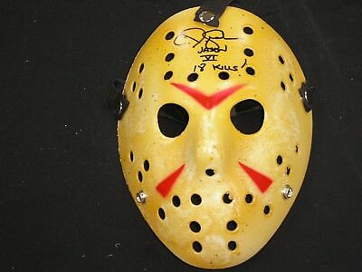 CJ GRAHAM Signed 18 KILLS Hockey MASK Jason Voorhees Friday the 13th Part 6