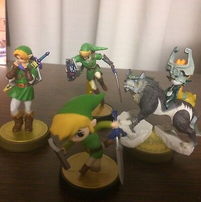 Windwaker, Ocarina, Twilight Princess, Zelda Link Amiibo (3DS Wii U Switch)