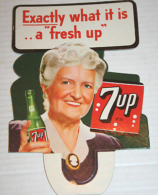 1950's Exactly What it Is... 7UP ORIGINAL Cardbrd Bottle Topper PRISTINE UNUSED