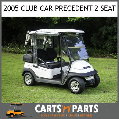 Club Car Precedent 2 Seat White 2005 Golf Cart Buggy Full Rain Covers Sand Bottl