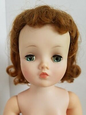 Madame Alexander Doll Cissy vintage fashion 1957 red head aqua  green eyes vgc