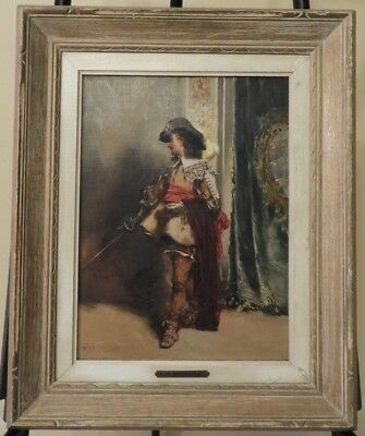 Aldo Affortunati (1906-1991) Original Italian Oil Portrait Guard Painting