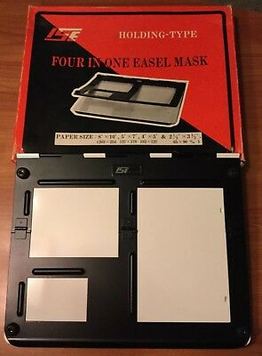 I.S.E Four In One Easel Mask Holding-Type Multiple Paper Size - New