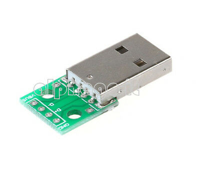 5PCS USB to DIP Adapter Converter 4 pin for 2.54mm PCB Board Power Supply
