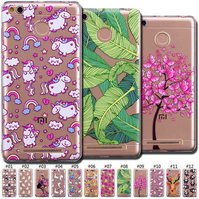 Cute Case Silicone Skin Painted Slim Soft Back TPU Clear Gel Cover For LG Xiaomi