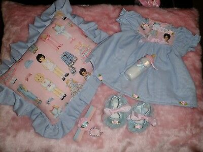 Craftymals  Dress, Scented Pillow + Access.  For Reborn Dolls 19 - 22  Inches #2