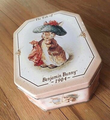 Vintage 1997 Beatrix Potter Benjamin Bunny Limited Edition Collector's candy tin