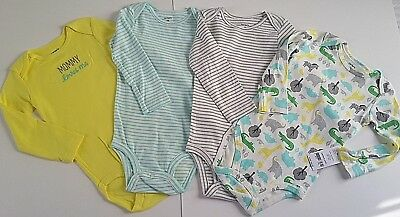 NEW Carters Boys Girls 4 Piece Bodysuit Set Long Sleeve 18 Months NWT