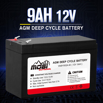 12V 9AH AGM Deep Cycle Battery Charge Batteries Dual Fridge Solar Power 4X4