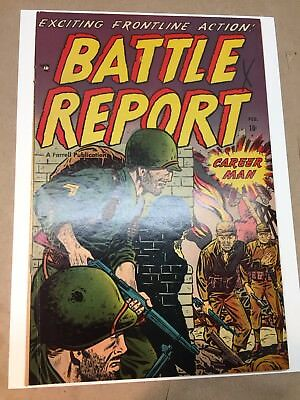 Battle Report #4 (1952) Farrell F+ OW Bright Glossy Pre-code War