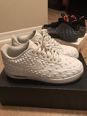 sale retailer 9e24a 72d90 Nike Air Force 1 One Elite AS QS Stars All Star White Sz 10   744308