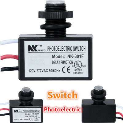Photoelectric Photocell Dusk for  Dawn Button Control Eye Switch Flush Mount