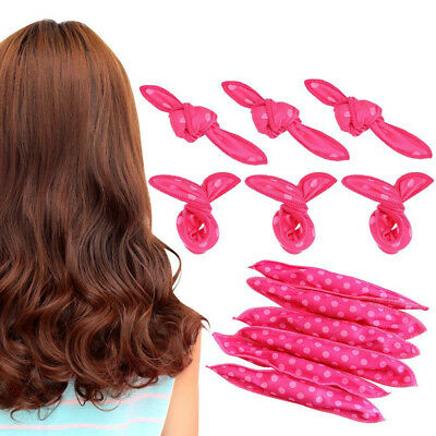 1-30Pcs Pillow Satin Rollers Soft Foam No Heat  Hair Roller Curler Sleep Sponge