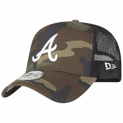 New Era Adjustable Trucker Cap - Atlanta Braves wood camo