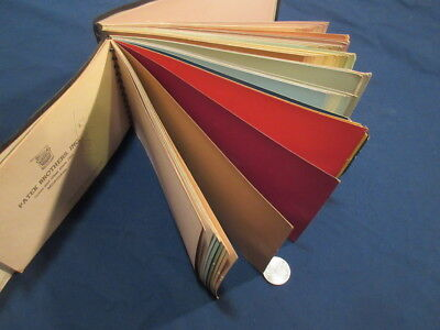 Mattcote Color Guide Paint Chip Sample Book Patek Brothers 1940's Milwaukee