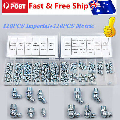 110/220 Metric&110/220 Imperial Cooper Assorted Hydraulic Grease Nipple Full Set