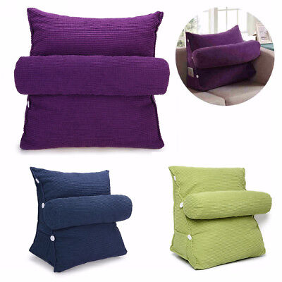 Adjustable Bed Wedge Pillow Cushion Neck Back Support Home Sleep Washable Cover
