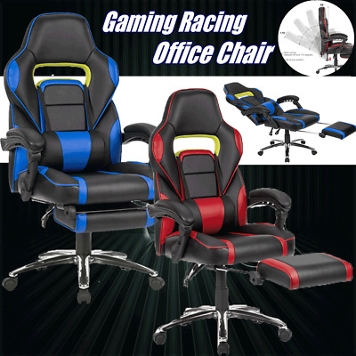 Overdrive Gaming Chair Office Computer Racing PU Leather Executive Race + Padded
