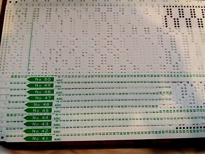 Pc77 Brother Knitting Machine Krc Colour Changer Punch Cards Patterns 41-50 X 10