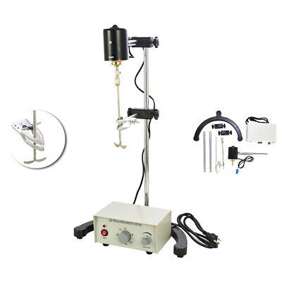 110V Electric Overhead Stirrer Mixer Height Adjustable Drum Mix Biochemical Lab