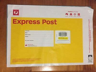 Express Post Satchels 3Kg x 10 Satchels-Free Express Post Delivery To Your Door