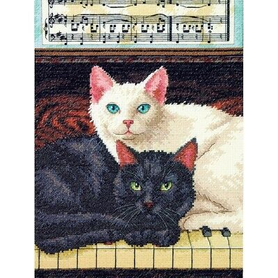 (D70-35269) - Dimensions Counted X Stitch - Ebony and Ivory