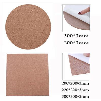 Heat Resistant Cork Sheets For Heated Bed Hot Plate 3D Printer + Adhesive Tape