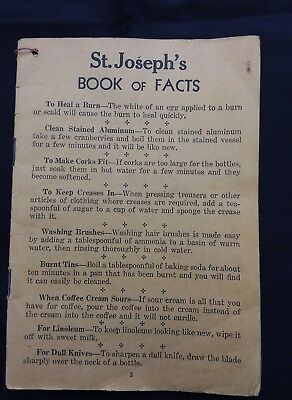 St. Joseph's Family Medicines Book of Facts pamphlet- Vintage- 30 pages