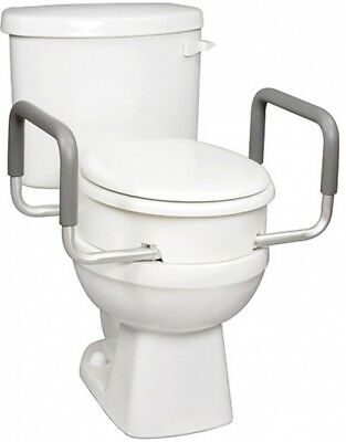 Carex Elevated Raised Toilet Seat With Arms For Elongated Toilets