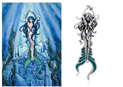 Sea Mermaid of Atlantis Just Like Silver pendant by fantasy artist Selina Fenech