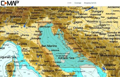 C-MAP - NT+ WIDE - Adriatic Sea - North - C-CARD