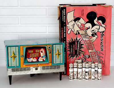 Disney MICKEY MOUSE Vintage MOUSEKETEER Electric TV STORY TELLER Record Player