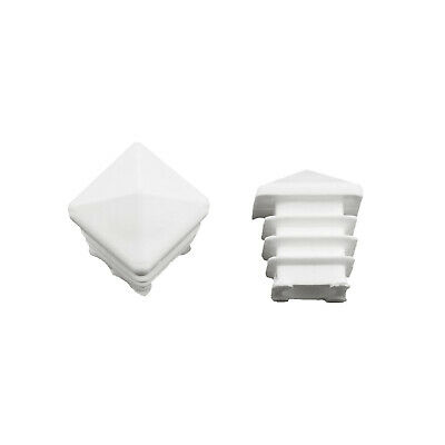 Cover Caps for Square Tubes Pyramids Form White Absolutely Description See